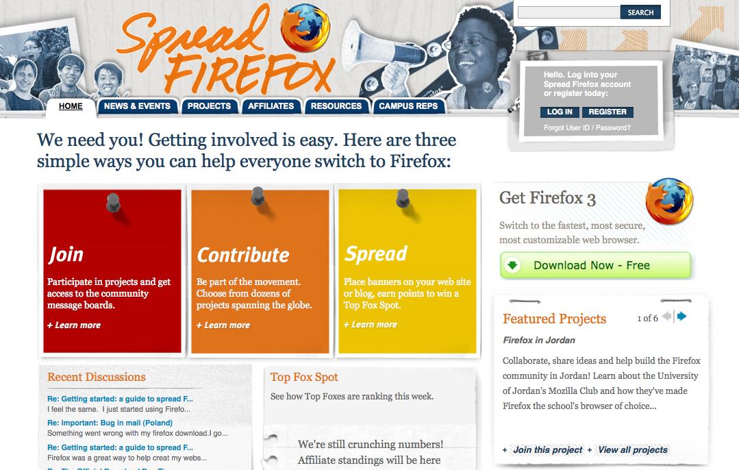 Spread Firefox 3 homepage