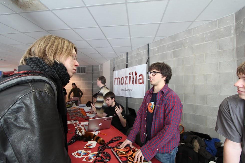 FOSDEM Mozilla Booth